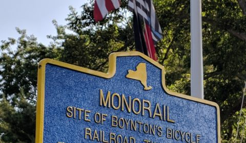 Historical Marker - Boynton Bicycle Railroad